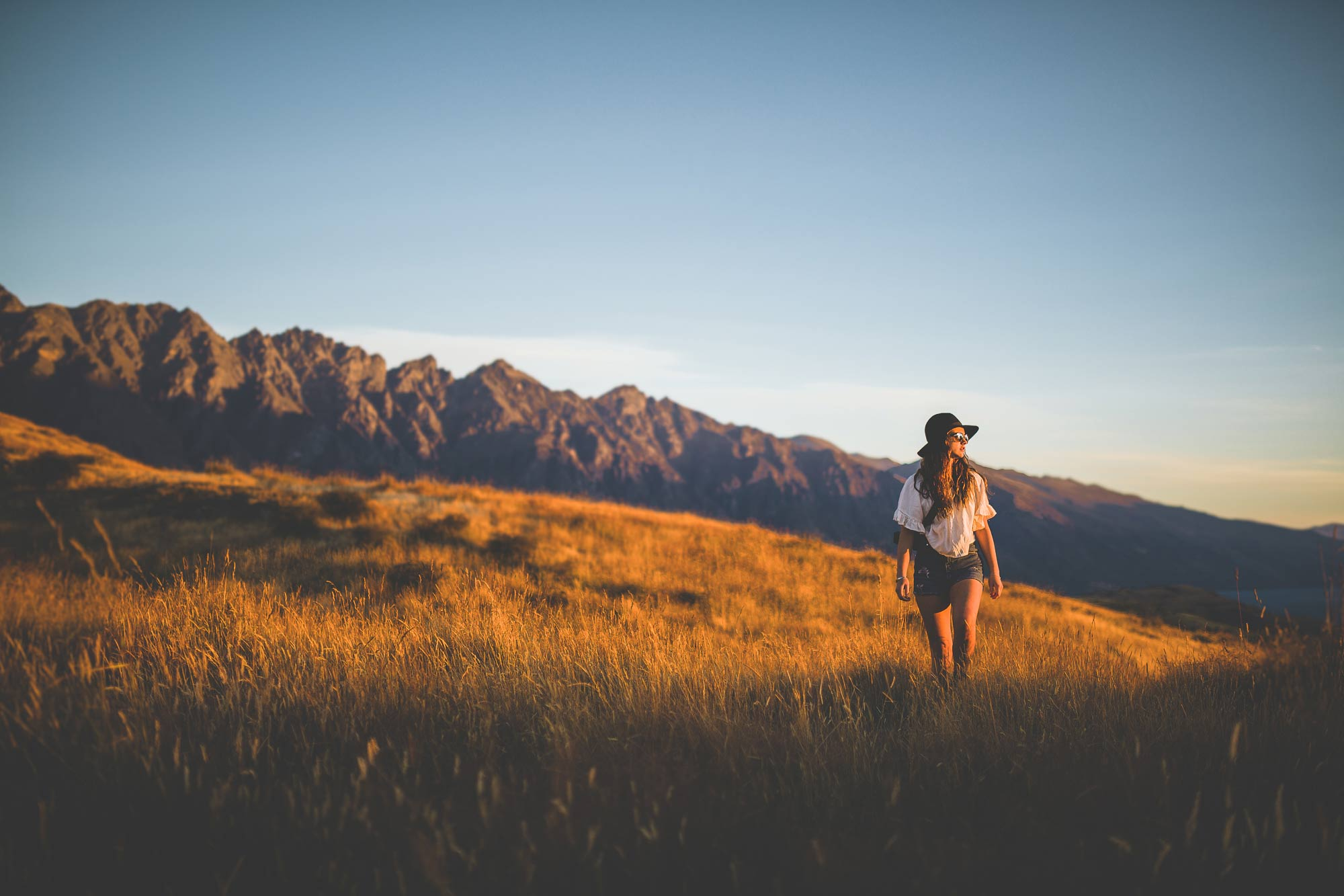 Maddi wandering underneath The remarkables in Queenstown