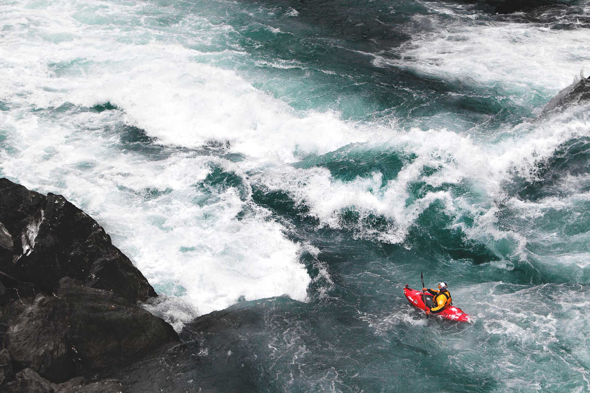 Red Bull Kayaker Ben Brown in Bennet's Bluff rapid near Queenstown