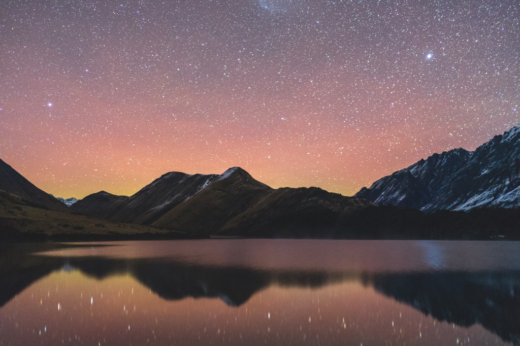 Starry Reflection at Moke Lake in Queenstown, NZ