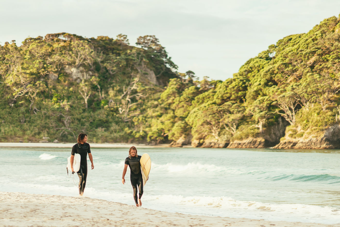 Evening surf at Great Barrier Island in New Zealand. Photo by Sony Ambassador Stefan Haworth