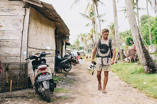 Photographer Stefan Haworth photographing in Bali, Indonesia.