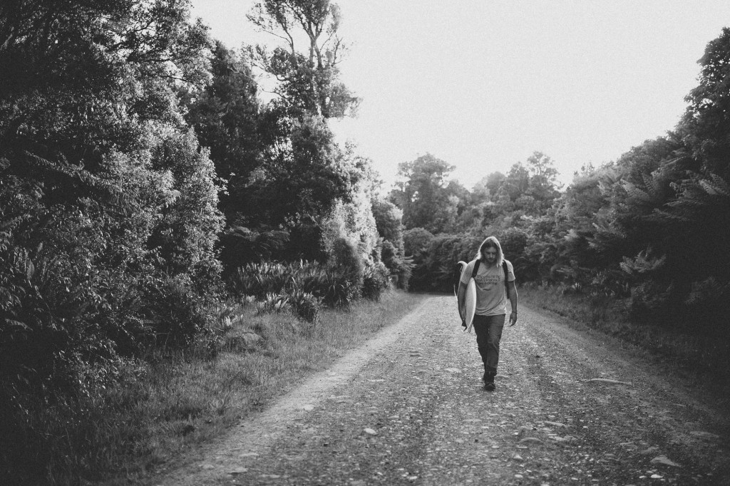 Nick rapley walking amongst the New Zealand Forest