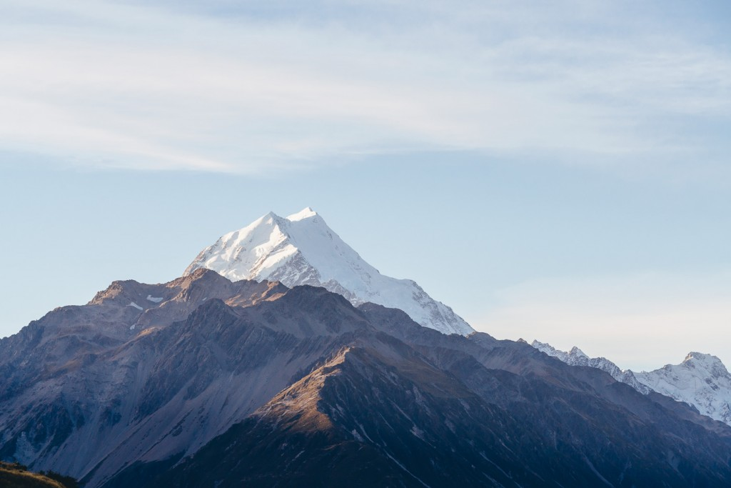 Layers of Mount Cook.
