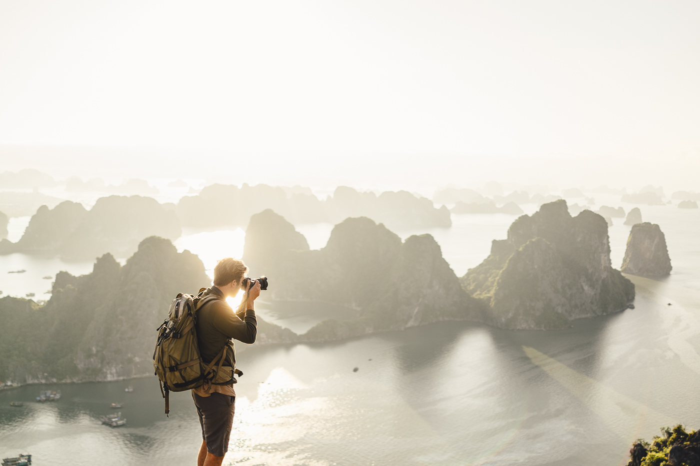 Stefan Haworth photographing Ha long Bay in Vietnam with Sony a7rII and FE 16-35mm f/4