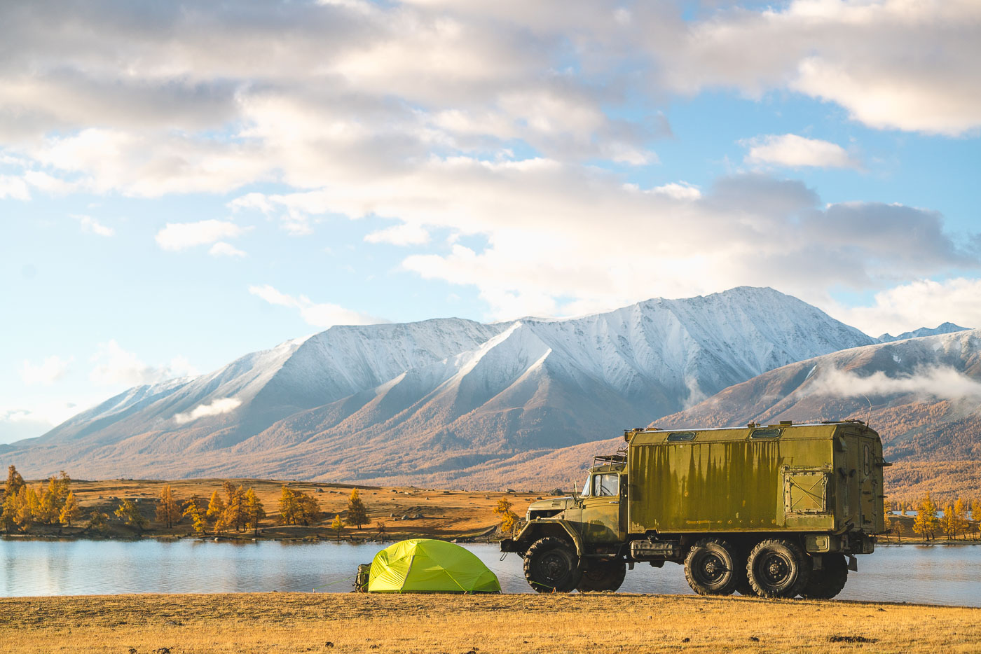 Camping in the mountains of Mongolia