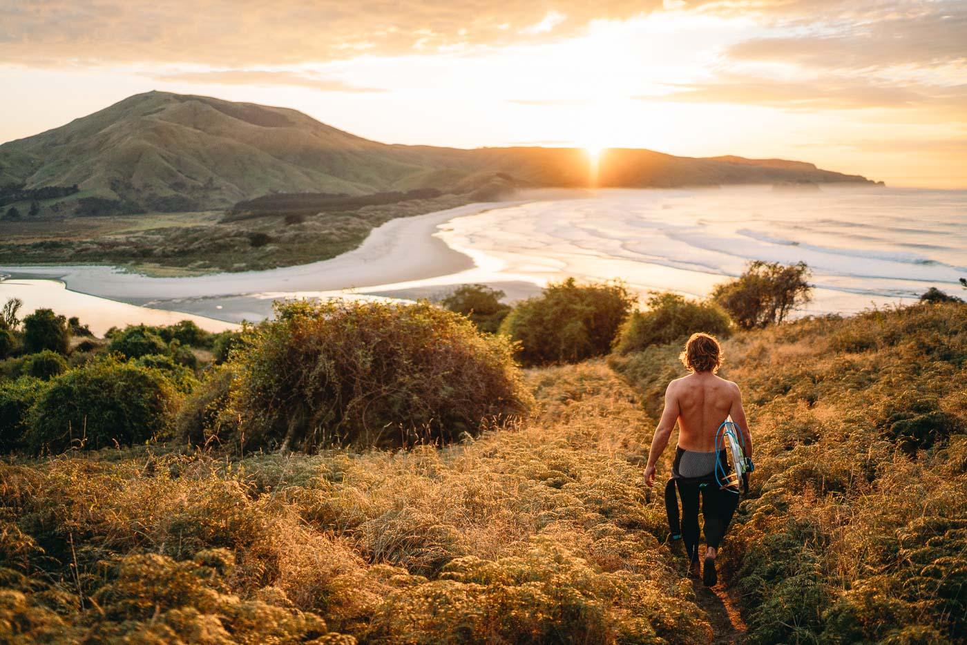 Surfing in Dunedin
