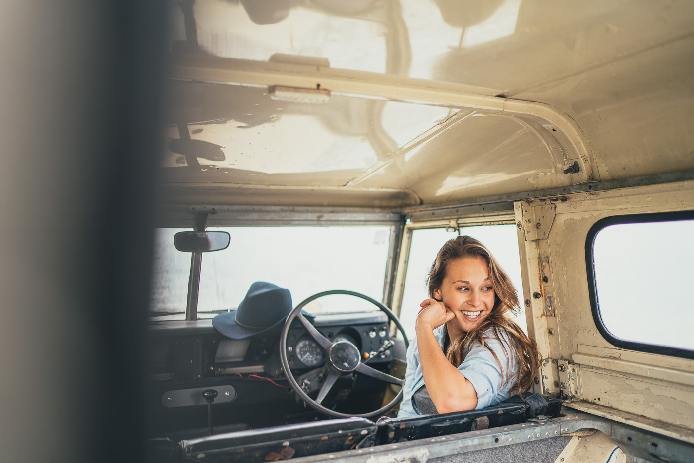 Lucy in the Land Rover