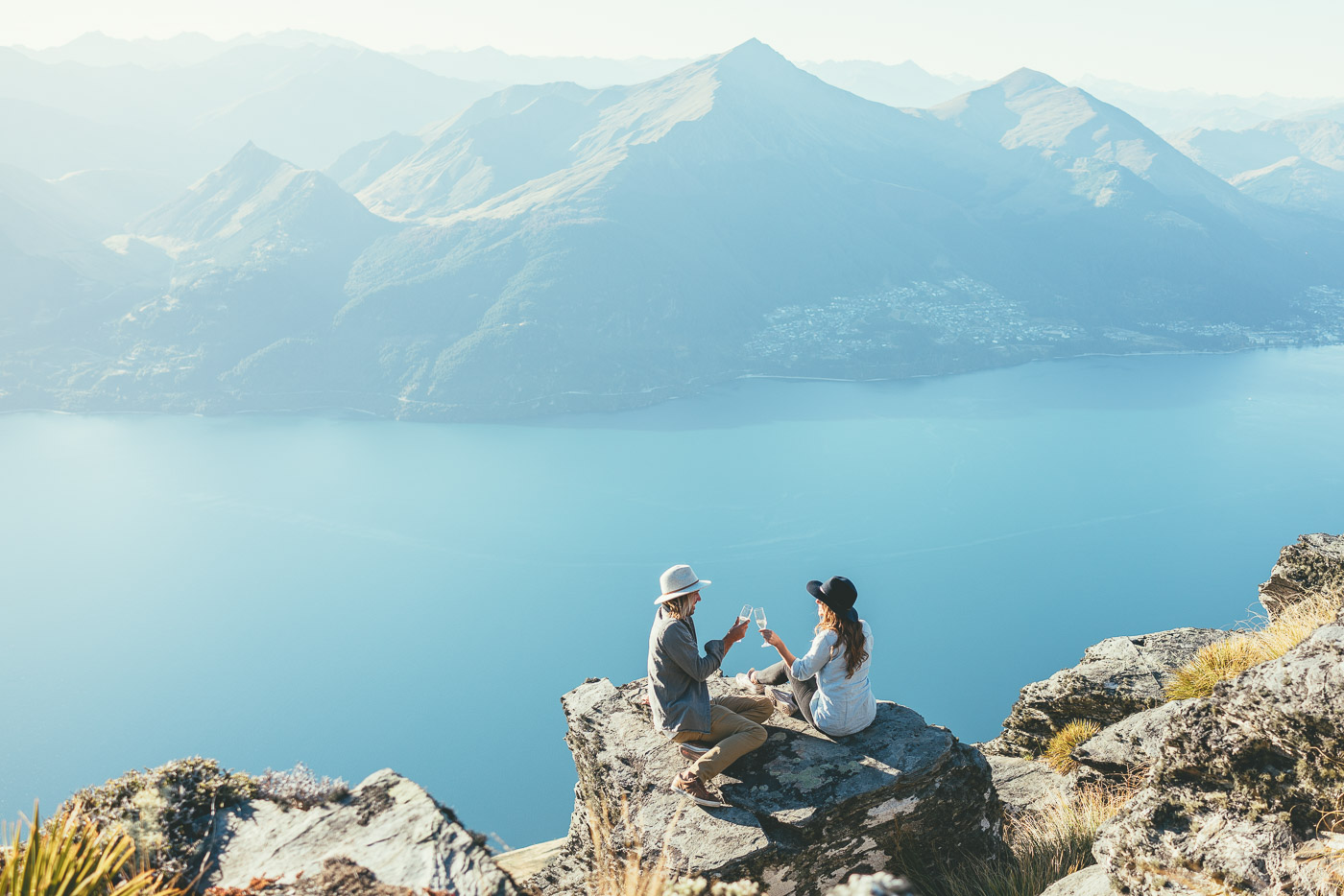Alpine picnic overlooking Queenstown with The Helicopter Line
