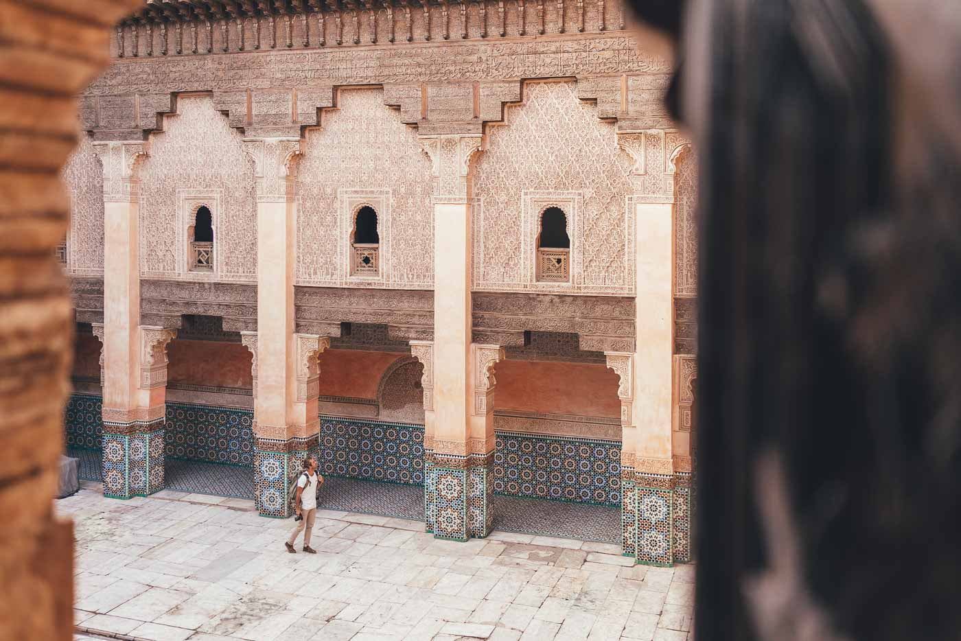 Photographer Stefan Haworth in Musée ben Youssef, Marrakesh