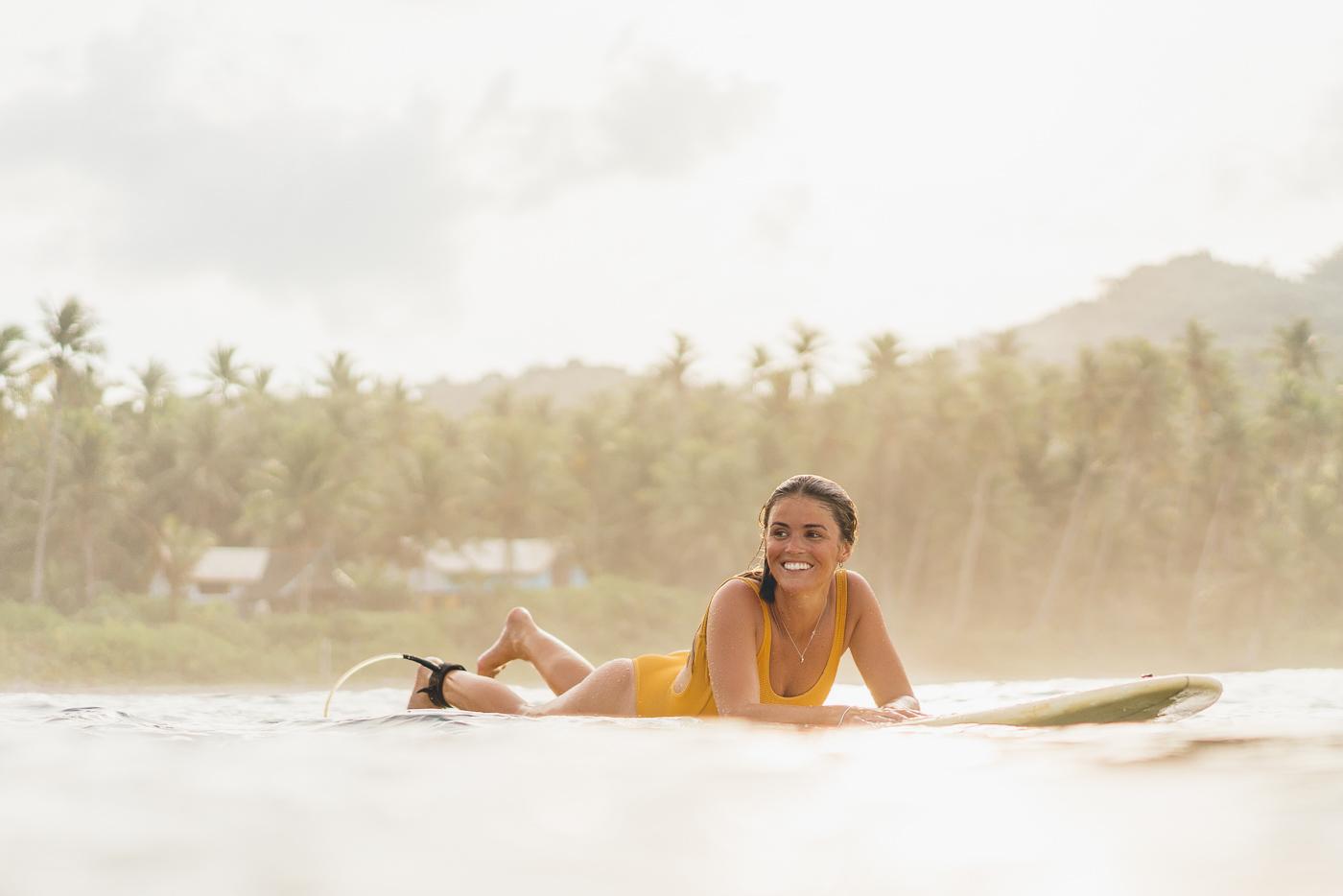 Babe jess Davis Surfing in philippines